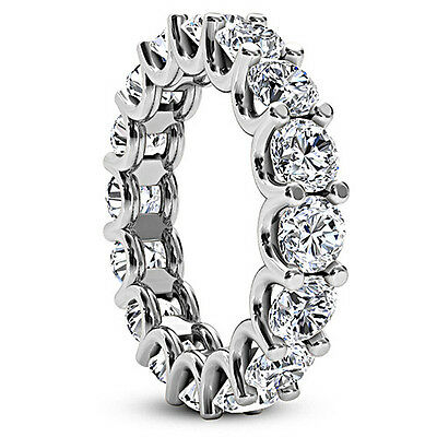 BLACK FRIDAY 1.85 CT ROUND CUT NATURAL DIAMOND ETERNITY RING D/SI 14K WHITE GOLD