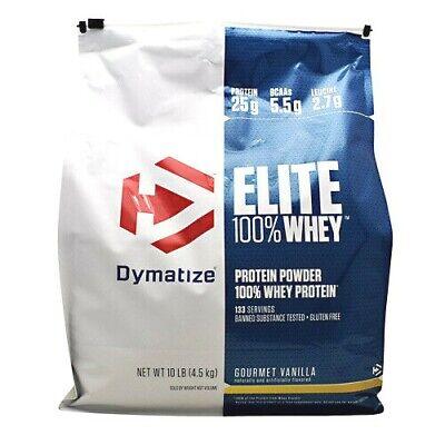 Dymatize Elite Gourmet Protein - Dymatize Elite 100 % Whey Protein Powder 10 lbs, 133 Servings GOURMET VANILLA