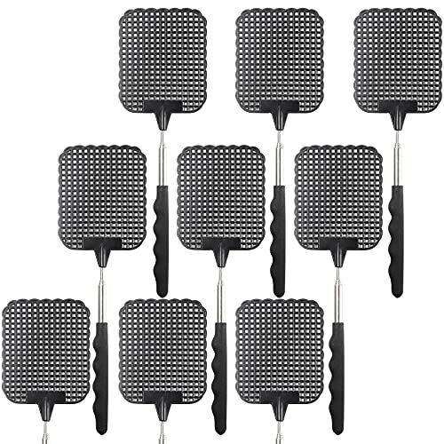 9 Pack Retractable Fly Swatters Heavy Duty Set, with Durable Telescopic 9pack