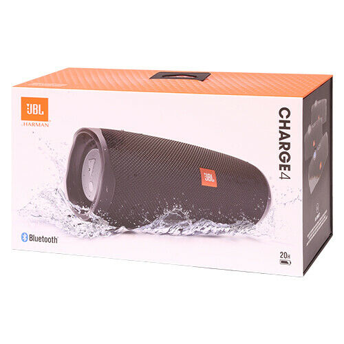 JBL Charge 4 Wireless Portable Bluetooth Waterproof Stereo Speaker Black