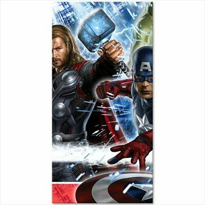 AVENGERS PLASTIC TABLE COVER ~ Birthday Party Supplies Cloth Marvel - Avengers Table Cover