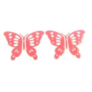 sticker autocollant pour voiture papillon une paire rouge ebay. Black Bedroom Furniture Sets. Home Design Ideas