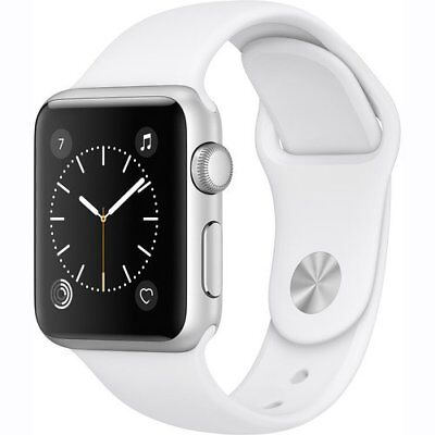 Apple Watch Series 1 38mm Silver Aluminum Case - White Sport Band
