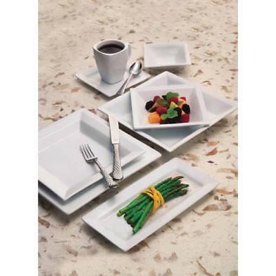 World Tableware Sl-7 Slate Dinnerware - Square Plate 7-14 White