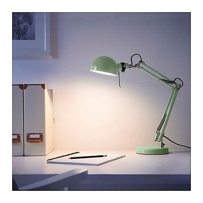 214 Home-office (NEW IKEA FORSÅ (FORSA)  WORK LAMP GREEN HOME / OFFICE / STUDY HEIGHT 35cm)