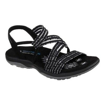 Stretch Soft Footbed - NWOT Women's SKECHERS Reggae Slim Stretch Appeal Slingback SANDALS Black Size 7