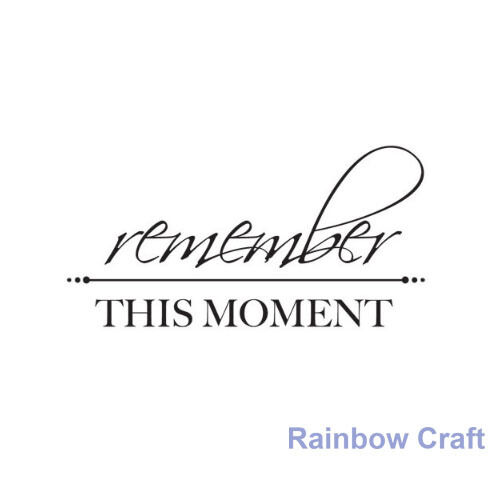 Kaisercraft mini stamps - 26 wording / patterns Scrapbooking card making - Remember This Moment