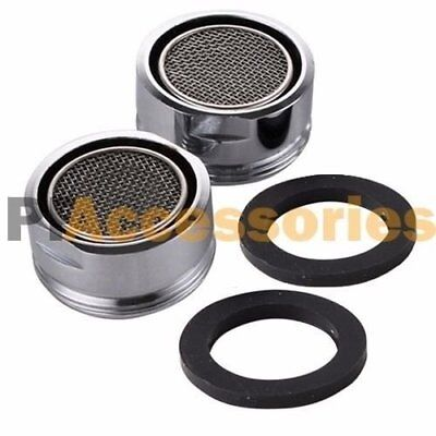 Faucet Aerator Adapters - 2 Pcs 1.5 GMP Water Saving Tap Bathroom Faucet Aerator Adapter Chrome Silver