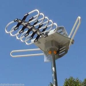 Powerful Outdoor HDTV Antenna with Rotor- New! Cut Cable!