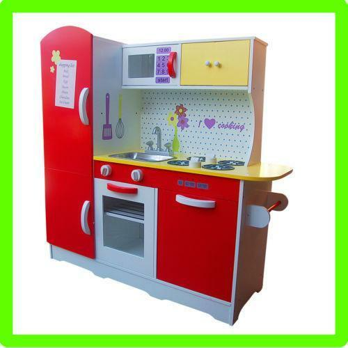 Kids kitchen play sets ebay for Toddler kitchen set