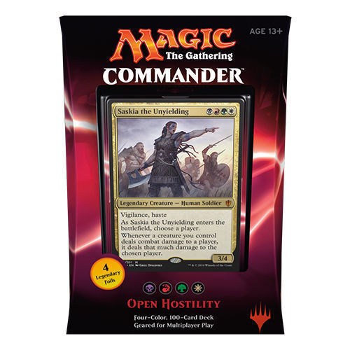 Commander 2016 - OPEN HOSTILITY Deck 100 Card NEW Sealed box