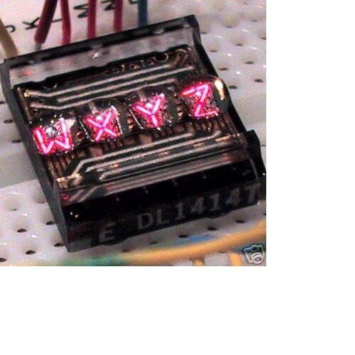 Siemens DL1414T Red, 4-Char 16 Segment Alphanumeric Intelligent Display