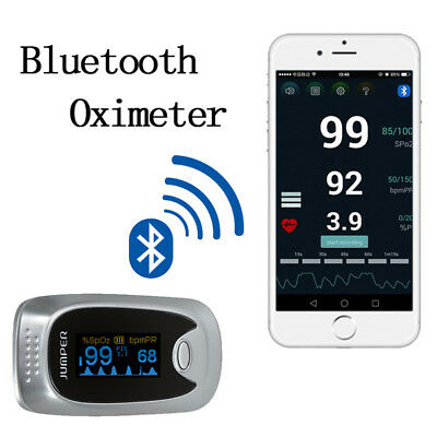 Bluetooth 4.0 Oled Oximeter Fingertip Blood Oxygen Spo2 Pi Pr Pulse Oximeter Ce