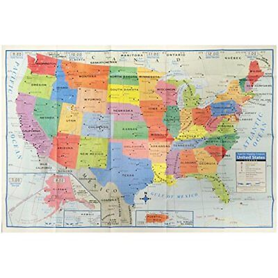 Kappa United States Wall Map Usa Poster  Home School Office