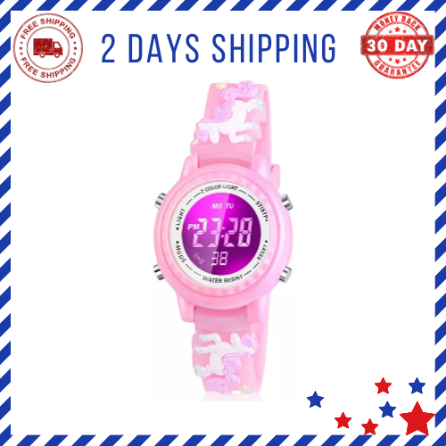 Gifts for 3-12 Years Old Girls, Led Digital Watches for Kids