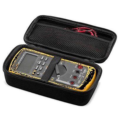 Eva Hard Case For Fluke 87-v Digital Multimeter Mesh Pocket For Accessories -new