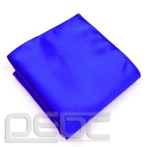 Mens Silk Satin Pocket Square Hankerchief Hanky Plain Solid Color Wedding Party