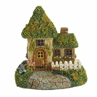 Moss Cottage - Mini Cottage House w Moss 4.25 X 4.5 Inches DA 30050480 Miniature Fairy Garden