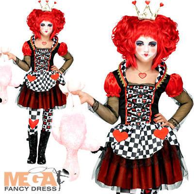 Queen of Hearts Girls Fancy Dress Fairy Tale Book Day Week Kids Children Costume - Queen Of Hearts Childrens Costume
