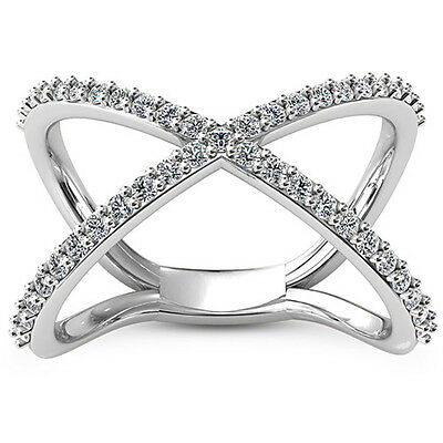3/4 CT ROUND DIAMOND ENGAGEMENT RING VS2 D 14k WHITE GOLD
