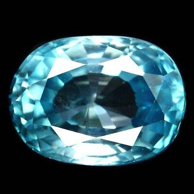 TOP ZIRCON : 3,72 Ct Natürlicher Blau Zirkon aus Kambodscha