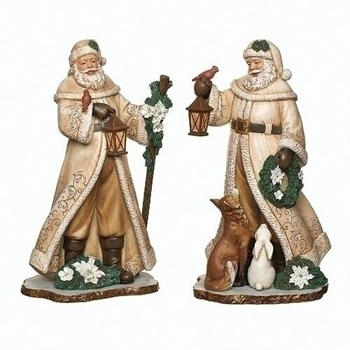 Santa with Cream Cloaks Figurine Collection ~~ Individually Sold ~~ NEW