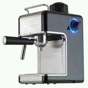 Espresso Coffee Machine Cappuccino Latte Maker Black By Cooks Professional - NEW