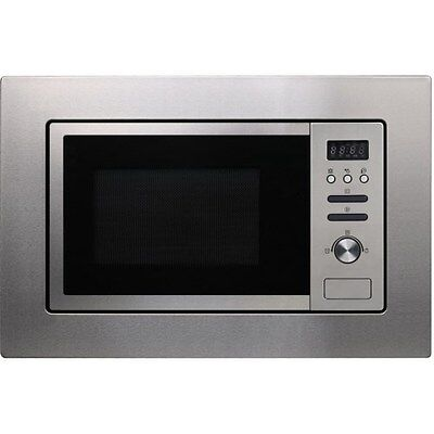 Electriq Stainless Steel 20 Litre Built in Microwave Oven & Grill, with Frame