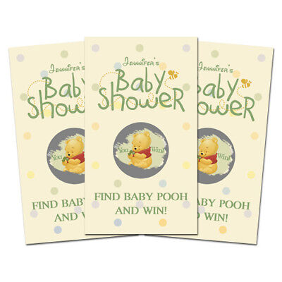 10 Baby Pooh Baby Shower Favors Personalized Scratch Off Games