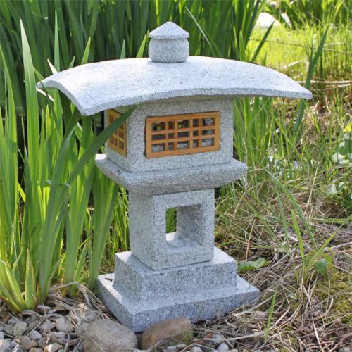 Steinlaterne granit garten terrasse ebay for Steinskulptur garten