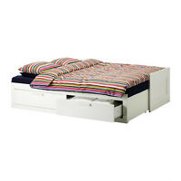 Bed Frame - Twin bed opens up to King frame. Storage space!