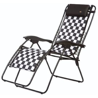 Faulkner 48969 Malibu Style Checkered Flag Outdoor Recliner - Standard