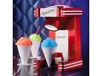 SMART 1950's American Diner Retro Style Ice Snow Cone Maker - Boxed Red