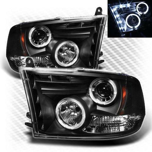 2006 2009 Dodge Ram 1500 Sinister Black 06 08 Ram 2500: 2009 Dodge RAM Black Head Lights