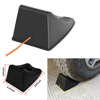 Auto Car Rubber Plastic Wheel Chocks Stop Fit Auto Car Caravans Trailer ATV NEW