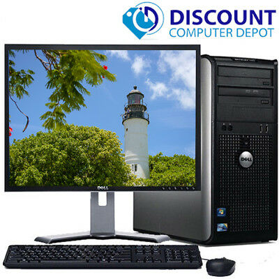 CLEARANCE!!! Fast Dell Desktop Computer PC Core 2 Duo WINDOWS 10 + LCD + KB + MS