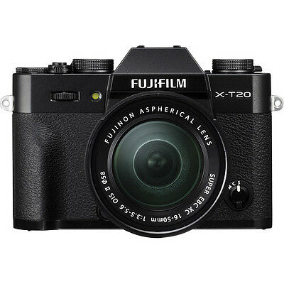 Fujifilm X-T20 Mirrorless Digital Camera with 16-50mm Lens - Black