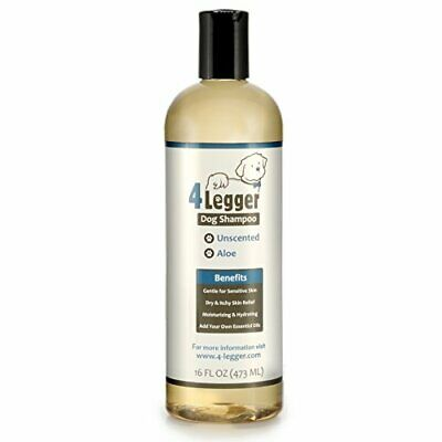 BEST Unscented Hydrating Dog Shampoo w/ Soothing Aloe for Sensitive Allergy (Best Shampoo For Allergies)