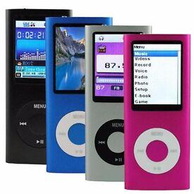 New 4th Gen 16GB MP3 MP4 Music Player Internal Memory 16GB