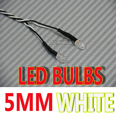 RC LED BULBS Pair On One Line 5mm WHITE