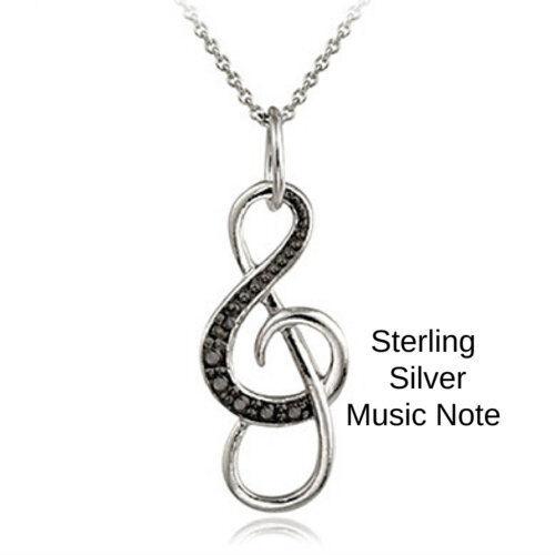 Womens Music Charm Note Pendant Necklace Cz Music Pendant Necklace Jewelry Gift Fashion Jewelry