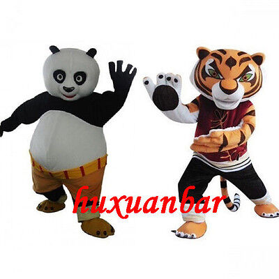 Parade Panda & Tigress Mascot Costume Cosplay Party Fancy Outfit New Hot - Tigress Outfit