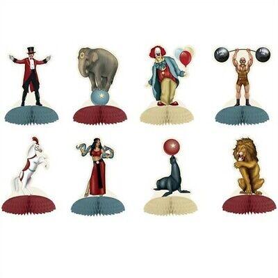 Vintage Circus Centerpieces (Vintage Circus 5 Inch Mini Centerpiece 8 Pack Circus Party Supplies)