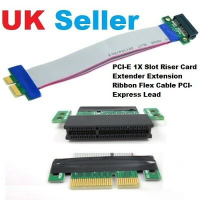 PCI-E 1X Slot Riser Card Extender Extension Ribbon Flex Cable PCI-Express Lead