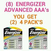 8 Energizer AAA Rechargeable Batteries