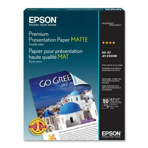 Epson Premium Presentation Paper MATTE (8.5x11 Inches, Double-sided, 50 Sheets)