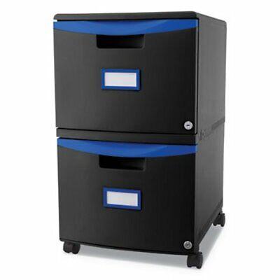 Storex 2-drawer Mobile Filing Cabinet Blackblue Stx61314u01c