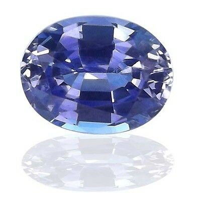 Lab Created Synthetic Ceylon Blue Sapphire Faceted Oval Gemstone 5x3mm - (Ceylon Lab Created Sapphire)