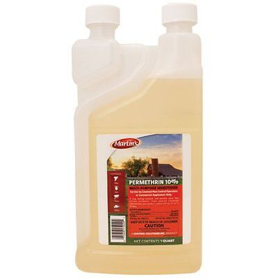 32 oz Permethrin 10% Livestock Dog Dip Kennel Ticks Fleas Bed Bugs ~ 1 Quart