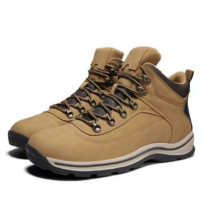 Retro Mens Faux Leather Outdoor Hiking Sneakers Shoes Climbing Sports Non-slip L
